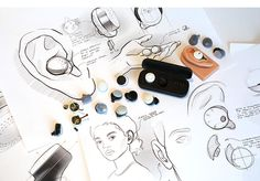 Don't Tune Out The World With These Earbuds. Instead, Tune In Industrial Design Sketch, Active Listening, Sketch Inspiration, Kids Room Design, Hearing Aids, Graphic Design Tutorials, Sketch Design, Business Design, Product Design