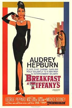 "Breakfast at Tiffany's is a 1961 American romantic comedy film starring Audrey Hepburn.The film was directed by Blake Edwards and released by Paramount Pictures. It is loosely based on the novella of the same name by Truman Capote.Breakfast at Tiffany's was received positively at the time, and was nominated for five Academy Awards, Best Actress for Hepburn, Best Adapted Screenplay, and Best Art Direction, winning two for Best Original Score and Best Original Song for the famous ""Moon River""."