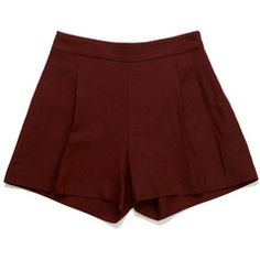 Tillie Shorts - Burgundy