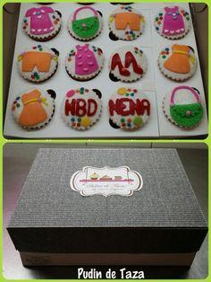 Caja de cupcakes para celebrar un cumpleaños