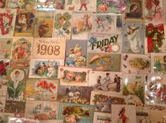 Nice! Vintage/Antique Lot of 1900's Holiday/Greetings Postcards-100 Cards-ttt148 #Easter
