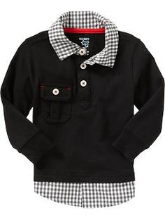 2-in-1 Polo Dress Shirts for Baby | Old Navy 12-18 months