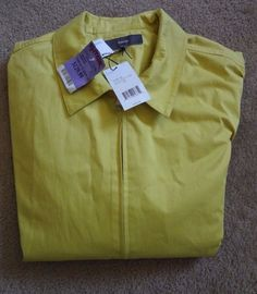 Vince Men's Solid Yellow XL Jacket NWT Made/China Of Italian Fabric MSRP $395.00 #Vince #BasicJacket