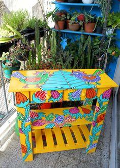1000 images about muebles pintados on pinterest mesas - Muebles de madera pintados a mano ...