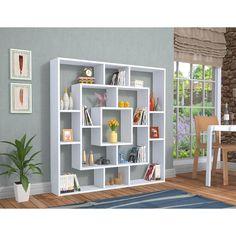 Room Divider Shelves, Living Room Divider, Home Library Rooms, Home Library Design, Living Room Ideas Studio, Living Room Designs, Creative Bookshelves, Bookshelf Design, Wall Showcase Design