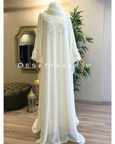 Wedding Abaya, Muslimah Wedding Dress, Muslim Wedding Dresses, Muslim Dress, Cute Wedding Dress, Street Hijab Fashion, Abaya Fashion, Islamic Fashion, Muslim Fashion