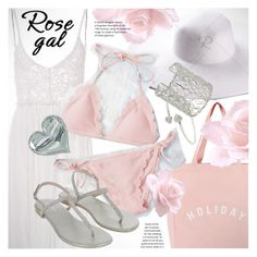 """""""ROSEGAL adorable light pink scalloped bikini"""" by vn1ta ❤ liked on Polyvore featuring Holiday and Monsoon"""