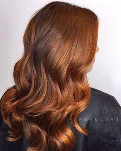 Wavy Copper Brown Hair More Ginger Brown Hair, Copper Brown Hair, Red Balayage Hair, Balayage Color, Reverse Ombre Hair, Best Hair Dye, Auburn Hair, Hair Affair, Red Hair Color