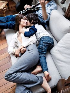 A Look Back At The Model Moms That Have Posed With Their Kids In Vogue via @WhoWhatWear