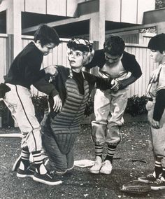 The Brady Bunch...Carol plays baseball with the boys.