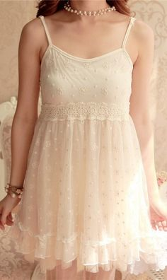 Crochet lace slip dress 397.  nice dress