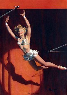 Vintage Circus Pin-up Más