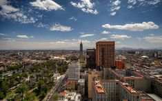 Download wallpapers Mexico City, Mexico, Latin-American Tower, The Torre Latinoamericana, capital, cityscape, summer, skyscraper
