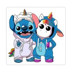 Stitch And Unicorn Sticker by CamilaDorlass