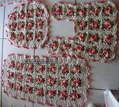 Crochês da Néia: Tapete- Barbante