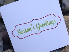 Christmas Card, Holiday Card Set, Personalized Christmas Cards - Seasons Greetings on Etsy, $10.00 #christmascards #holidaycards #modernchristmascards or at www.soireepaper.co