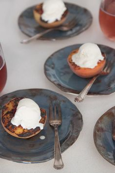 Grilled Peaches with Vanilla Ice Cream #BHGSummer