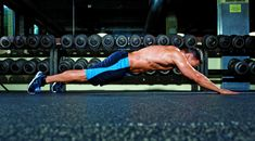 This Superman pushup trains your abs and saves your back.
