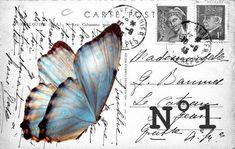 Montage carte postale pour impression étiquette