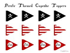 7 Best Images of Free Pirate Printables - Pirate Party Printables Free, Free Printable Pirate Cupcake Toppers and Pirate Birthday Party Free Printables Pirate Baby, Pirate Birthday, Pirate Theme, Mermaid Birthday, Boy Birthday, Pirate Flags, Birthday Ideas, Cake Birthday, Ideas Decoracion Cumpleaños