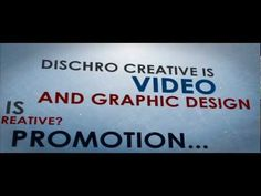A short AE presentation... 'what is Dischro Creative?'