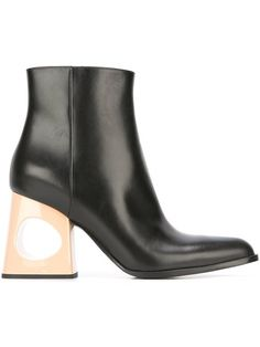 Shop Marni cut-out heel ankle boots .