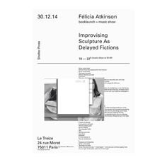 felicia atkinson / shelter press book launch and sound performance Type Design, Graphic Design, Layout Design, Typography, Lettering, Book Launch, Dark Side, Fiction, Editorial