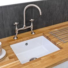 Reginox Mataro Undermount White Ceramic Single Bowl Kitchen Sink with Waste Included. In stock: Delivery Next Day. Ceramic Kitchen Sinks, Ceramic Undermount Sink, Kitchen Tiles, Kitchen Design, Sink Basket, Single Bowl Kitchen Sink, Easy Jobs, Perfect Marriage, Stainless Steel Sinks