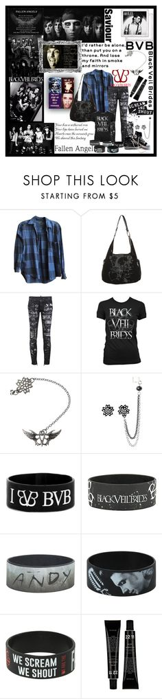 """""""BVB"""" by fandoms-obsessed ❤ liked on Polyvore featuring Brandy Melville, Dsquared2, Hot Topic and Converse"""