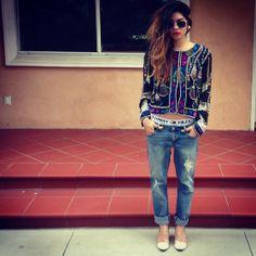 Vintage Outerwear, Tommy Hilfigure Breifs, Zoo Shoo Boyfriend Jeans, Zoo Shoo Heels