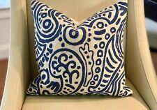 "CLARENCE HOUSE ""UDAI"" CREWEL EMBROIDERED PILLOW"