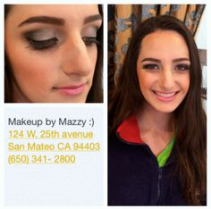 ~Makeup and Eyebrows done at Mazzy's~ Book your appointments today! -Our beautiful client getting ready for prom Appointments, Eyebrows, Make Up, Prom, San, Beautiful, Brows, Maquillaje, Senior Prom