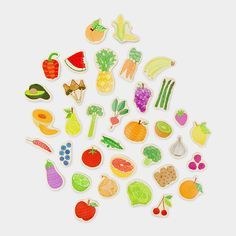 Fruits & Veggies Magnet Set from MOMA