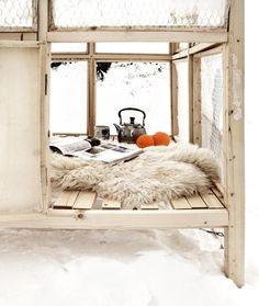 cozy winter hideout.