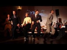 """Jazz Roots Dance Festival 2013 - Saturday Night - Shim Sham with dancers: Nathan Bugh, Pontus Persson, Remy Kouakou Kouame, Lennart Westerlund, Alex Dreyer Song:  """"I've Got Rhythm"""" by Fletcher Henderson conducting Horace Henderson and his Orchestra."""