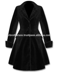 ladeis gothic jas zwart fluwelen jurk-afbeelding-jassen-product-ID:50003002634-dutch.alibaba.com