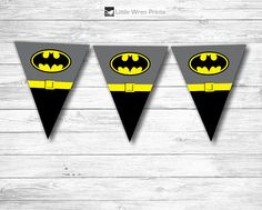 Batman Party Decorations Banner Bunting. Perfect printable for DIY Superhero