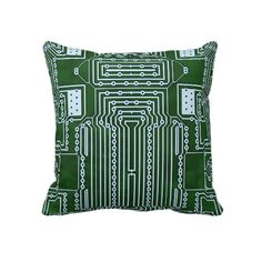 Computer Geek Circuit Board Pillows from Zazzle.com