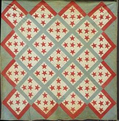 Applique Union quilt, attributed to 1858-1860