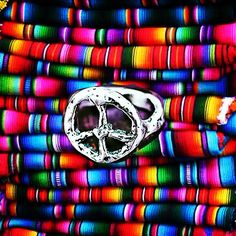 peace rings and mexican blankets