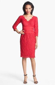 Tadashi Shoji Lace Sheath Dress (Regular & Petite) available at #Nordstrom