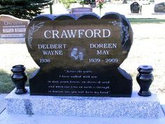 Legacy Monuments - Heart Shaped Memorial Headstone Gallery. Made from ...