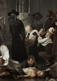 Siege and Relief of Leiden by photographer Erwin Olaf - Liberty, Plague and Hunger, detail Erwin Olaf, Leiden, Dark Fantasy, Fantasy Art, Plauge Doctor, Carl Friedrich, Tableaux Vivants, William Adolphe Bouguereau, Macabre Art