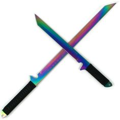 Rainbow Blade Full Tang Ninja Swords w/ Sheath 2 piece set ❤ liked on Polyvore featuring weapons and accessories