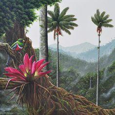 Cocora Acrylic-Canvas 110x110cms Juan Carlos Suárez 2014