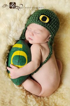 Oregon Duck Fan.  I wish I had this stuff for Addie pictures!