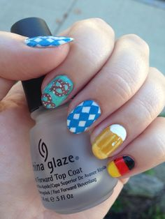 oktoberfest nails by /u/mouse_the_cat