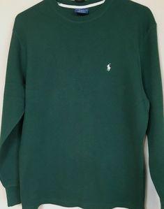 05fef970a3 Polo Ralph Lauren Men s Thermal Sleepwear Shirt Medium M Green   PoloRalphLauren  SleepShirt