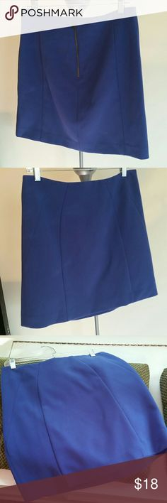 "LOFT skirt Purple/Blue skirt.  Perfect for work.  Back gold zipper.   17"" long.  Dryclean  66%Polyester/ 29% Rayon/ 5% Spandex 100% Acetate lining 💥Fast shipping!💥 LOFT Skirts"
