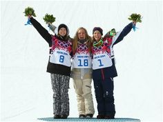 women's snowboard slopestyle winners.  Day #3